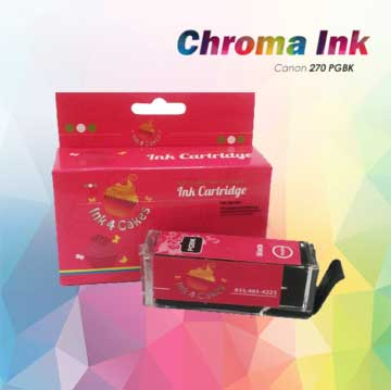 Canon edible ink  Black 270BK XL CHROMA