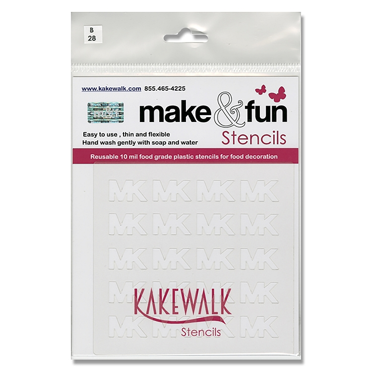 Michael Kors- Bakery decorating stencil - square 5.5