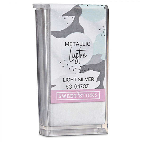 Light Silver Edible Art Metallic Lustre