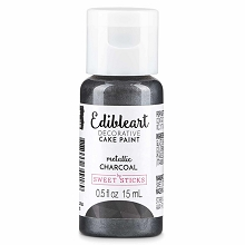 Charcoal Edible Art Paint 15ml Bottle
