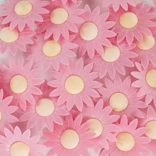 Edible Wafer Paper Flowers - Pastel Pink