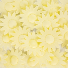 Edible Wafer Paper Flowers - Pastel Yellow