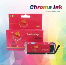 CHROMA 251XL Canon Cyan Edible Ink Cartridge