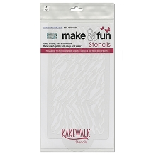 Animal Zebra Print- Bakery decorating stencil - Rectangle 11