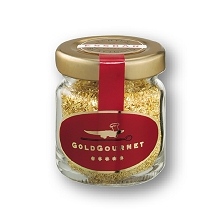 GoldGourmet - JAR of Edible Gold Flakes  23k - 1gram