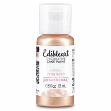 Rose Gold Edible Art Paint 15ml Bottle