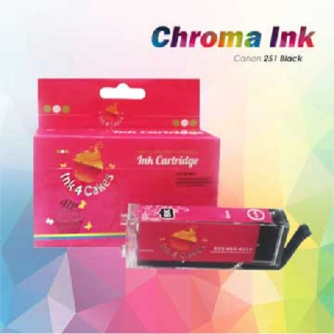 CHROMA 251XL Canon Black Edible Ink Cartridge