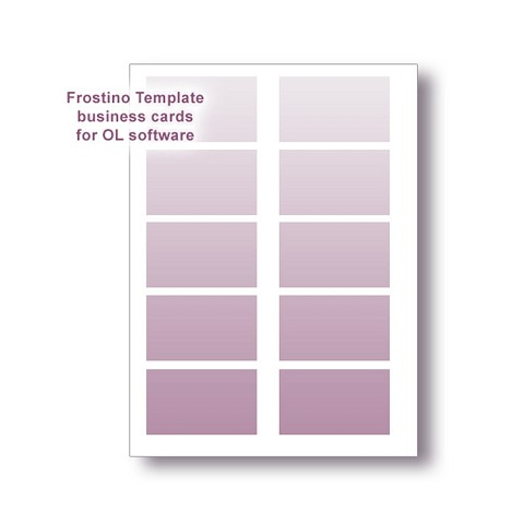 Frostino Templates for Office Labeler Software - 3.5x2 in Business Cards