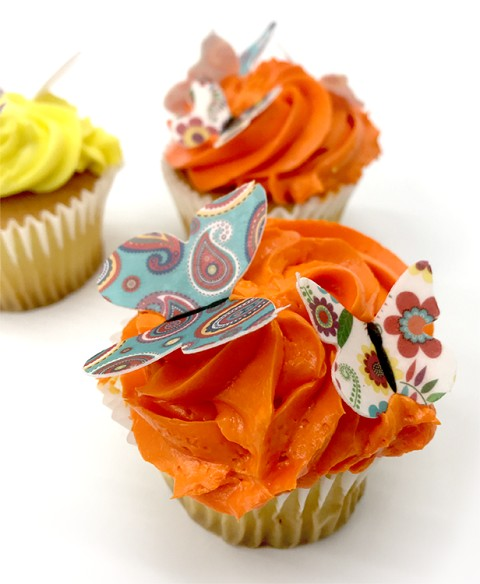 42 Die-Cut Butterfly Edible Wafer Cupcake Topper