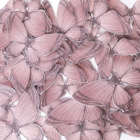 Rose Edible Wafer Paper Butterfly