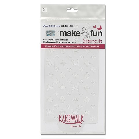 "Vuiton Seamless- Bakery decorating stencil - Rectangle 11""x6"""