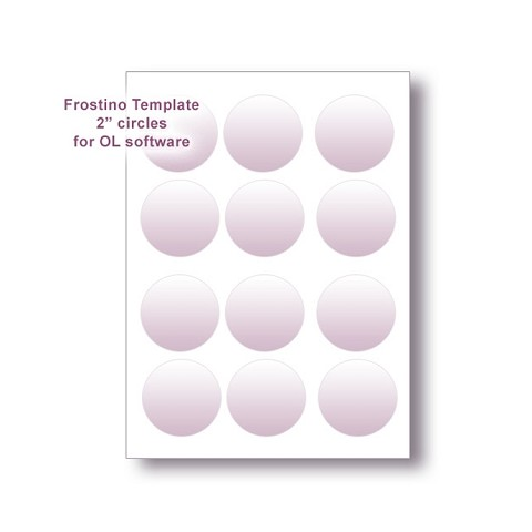 "Frostino Templates for Office Labeler Software - 2."" circles"