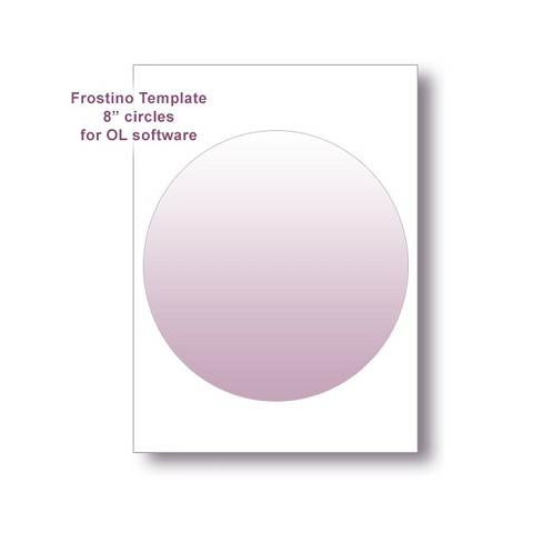 "Frostino Templates for Office Labeler Software - 8"" circles"