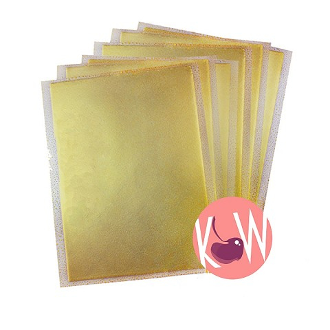 Gold Flex Frost Sparkling Icing Sheets 12 pack