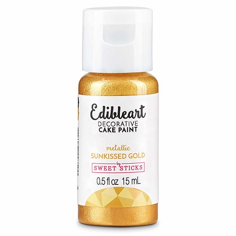 Sunkissed Gold Edible Art Paint 15ml Bottle