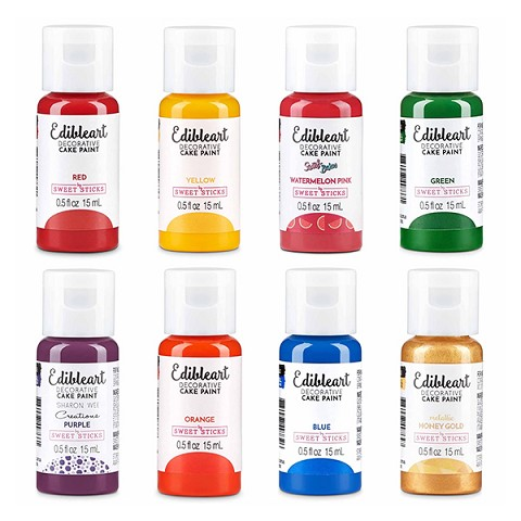 Edible Art Paint Rainbow Set - 8pk