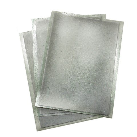 Silver Flex Frost Sparkling Icing Sheets 3 pack