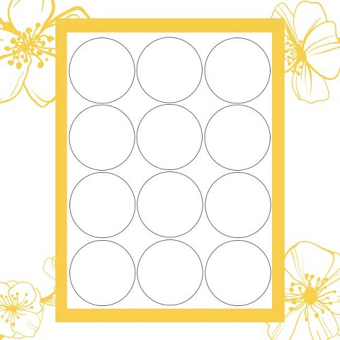 Twiggy Templates for Office Labeler Software - 2 in Circles