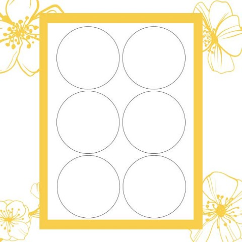 "Twiggy Templates for Office Labeler - 3"" circles"